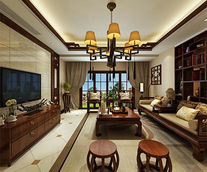 隆鑫鸿府280平米别墅中式风格排列五预测效果图