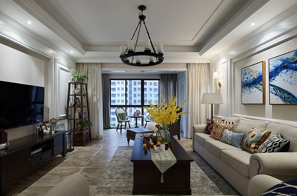 融汇半岛98㎡现代美式风格,教你简美而又优雅的生活!