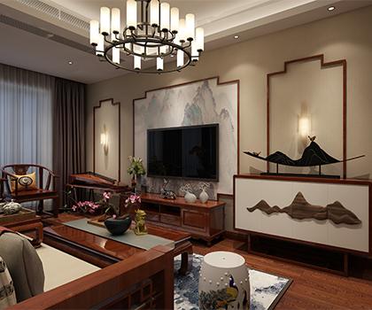 金科天宸115平米中式风格排列五预测效果图