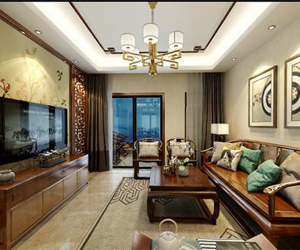 江城里新122平米三室一厅中式风格排列五预测效果图